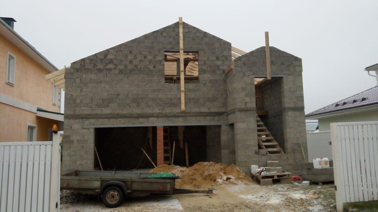 Строительство гаража из керамзитобетонных блоков своими руками 70