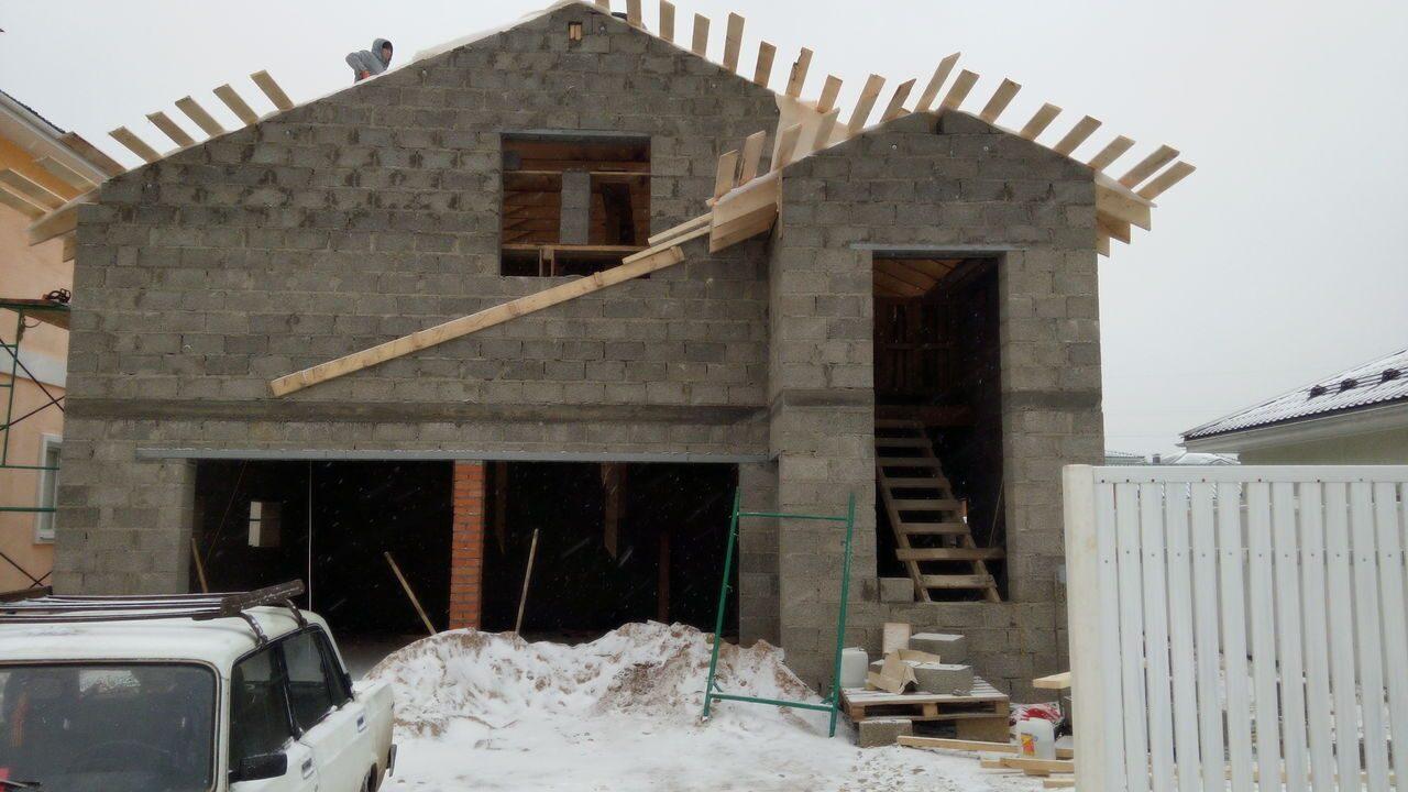 Строительство гаража из керамзитобетонных блоков своими руками 64